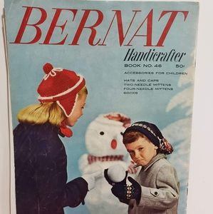 Vintage Bernat Knit Winter Accessories for Kids